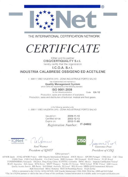 Inoltre, il Gruppo Sol possiede, tra le altre, le seguenti Certificazioni: OHSAS 18001:2007 UNI EN ISO 13485:2004 e la marcatura CEper le seguenti produzioni: - impianti per la distribuzione di gas medicinali; - impianti per il vuoto; - anidride carbonica per laparoscopia; - argon per elettrocoagulazione; - azoto liquido per crioconservazione; - gas criogenici per crioterapia; - impianti sotto pressione secondo la direttiva PED; - impianti di alimentazione di emergenza; - impianti per la evacuazione di gas anestetici.